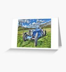 Bugatti Grand Prix Racing Car Greeting Card
