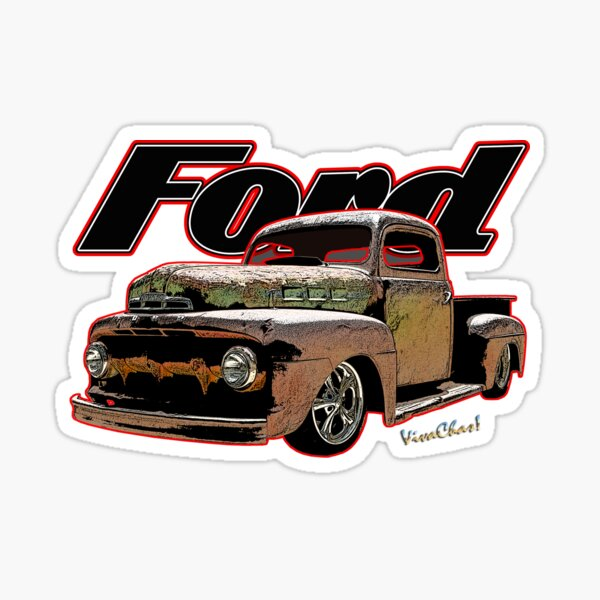 Ford Ratty Pickup Truck T-Shirt Sticker