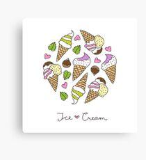 cartoon ice cream cones  Canvas Print