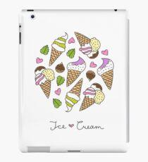 cartoon ice cream cones  iPad Case/Skin