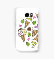 cartoon ice cream cones  Samsung Galaxy Case/Skin