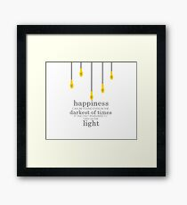 happiness // albus dumbledore Framed Print