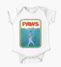 Paws Jaws Movie parody T Shirt One Piece - Short Sleeve