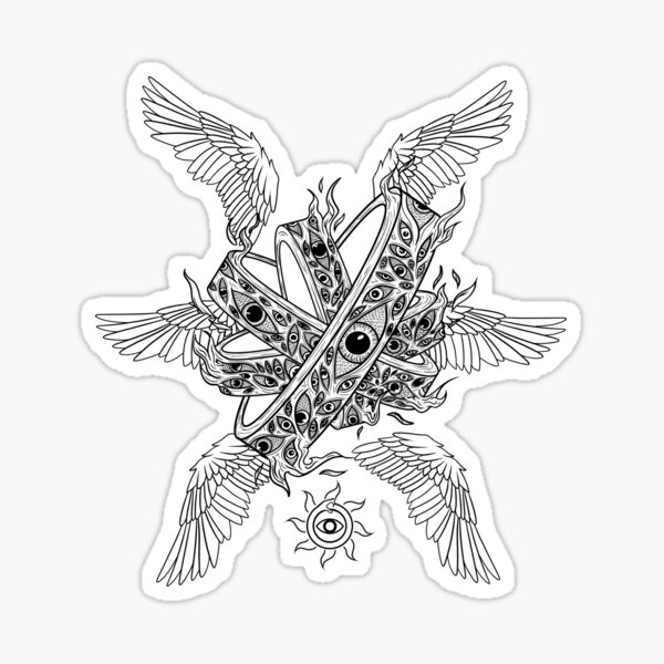 Bible Accurate Angel: Outline Variant Sticker