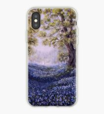 """""""Mary's Bluebells"""" - oil painting iPhone Case"""