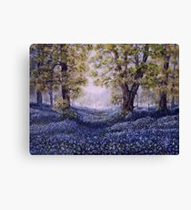 """Mary's Bluebells"" - oil painting Canvas Print"