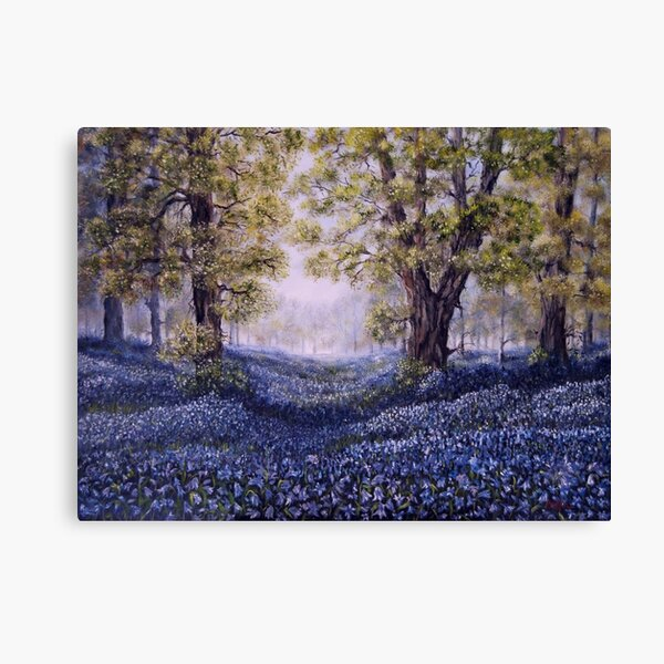 """""""Mary's Bluebells"""" - oil painting Canvas Print"""