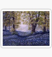 """""""Mary's Bluebells"""" - oil painting Sticker"""