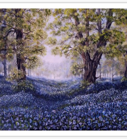 """Mary's Bluebells"" - oil painting Sticker"