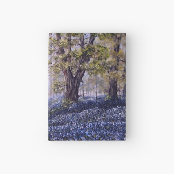"""""""Mary's Bluebells"""" - oil painting Hardcover Journal"""