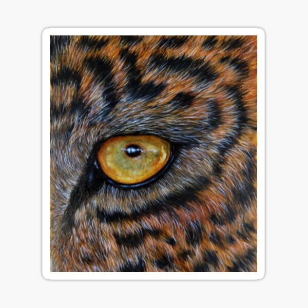 """""""Eye of the Leopard"""" - oil painting Sticker"""
