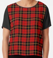 Clan Wallace Tartan Chiffon Top
