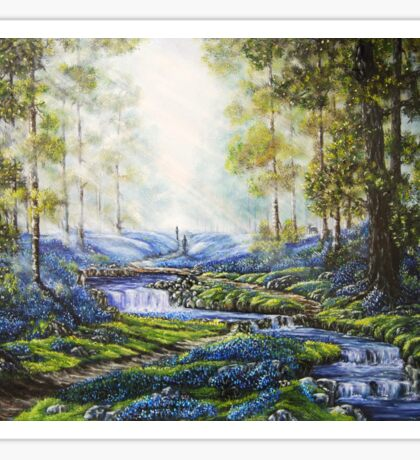 """Bluebell Heaven"" - Oil painting Sticker"