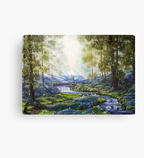 """Bluebell Heaven"" - Oil painting Canvas Print"