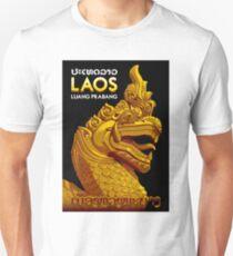 """LAOS ASIA"" Vintage Travel Advertising Print T-Shirt"