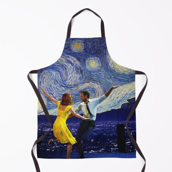 starry night and lalaland Apron