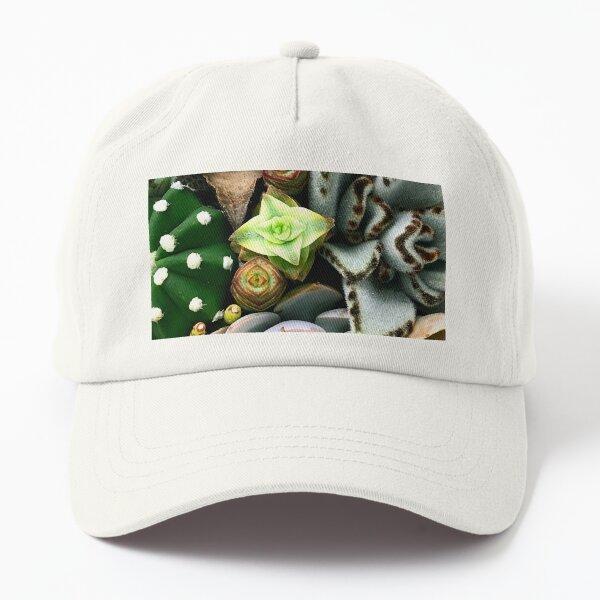 Wild and Wooly Succulent Garden Art Photo  Dad Hat
