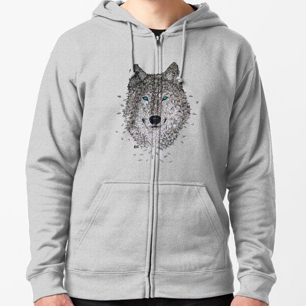 Vector Wolf Zipped Hoodie