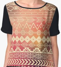 Aztec pattern 01 Women's Chiffon Top