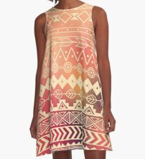 Aztec pattern 01 A-Line Dress