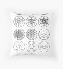 13 Circles of Sacred Geometry | FRESH Throw Pillow