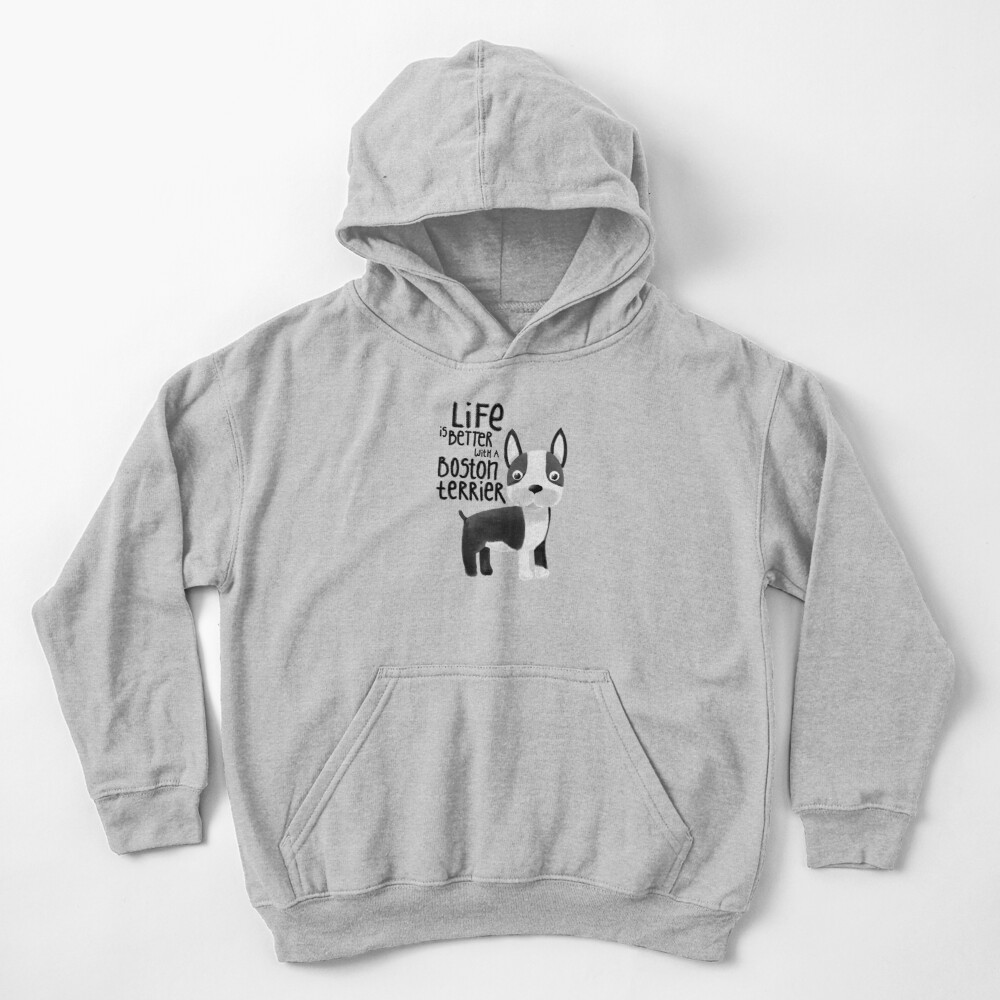 Boston Terrier Kids Pullover Hoodie