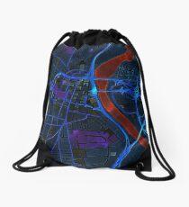Dark map of Hartford Connecticut Drawstring Bag