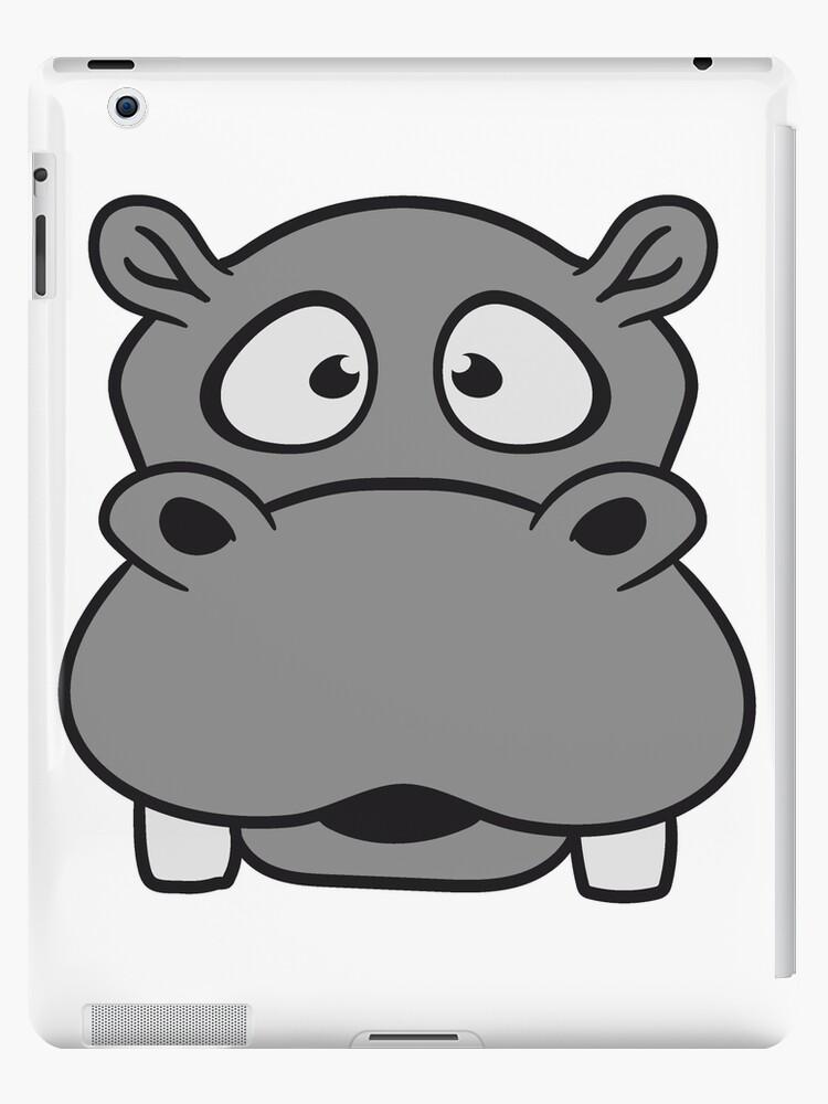 hippo face template - 750×1000