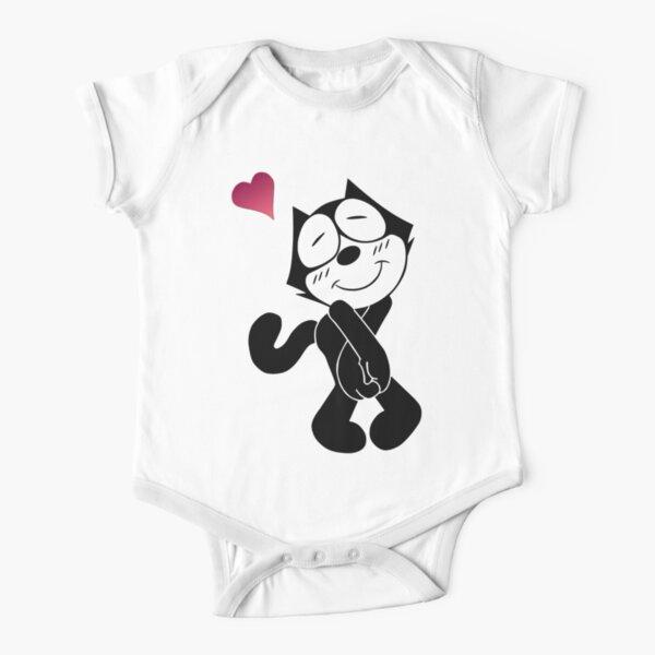 Felix the Cat Love Short Sleeve Baby One-Piece