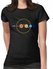 Planets and Sun Womens Fitted T-Shirt