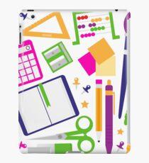 Set of school items cartoon : beautiful clip-art Illustration iPad Case/Skin