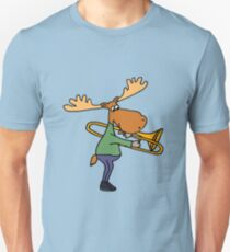 Funny Funky Moose Playing Trombone T-Shirt