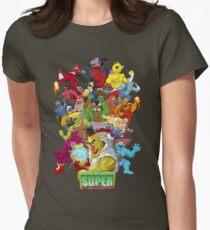 Super Sesame Street Fighter Womens Fitted T-Shirt