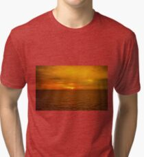 Sunset on the Caribbean Sea Tri-blend T-Shirt