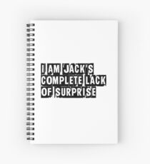 I Am Jack's Complete Lack of Surprise - Fight Club Spiral Notebook