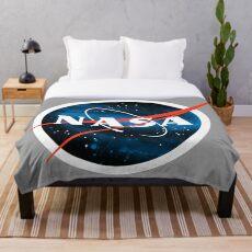 Spacey Nasa Logo Fleecedecke