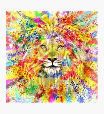 Lion King Colorful Art Photographic Print