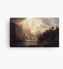 Albert Bierstadt - Among The Sierra Nevada California Canvas Print
