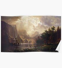 Albert Bierstadt - Among The Sierra Nevada California Poster