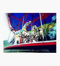 Merrily The Horseys Go 'Round Photographic Print