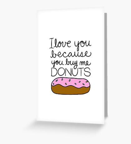 I Love You from Donut Lover Greeting Card