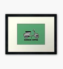 mod mods vespa motor bike retro vintage punk rock pop Framed Print