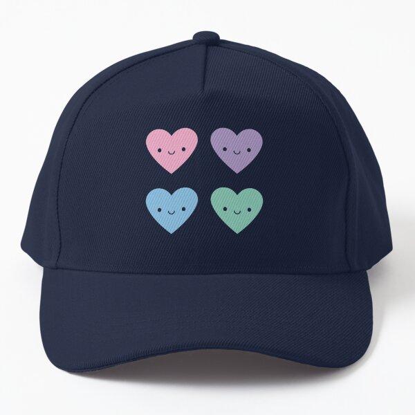 Kawaii Pastel Goth Candy Hearts Baseball Cap