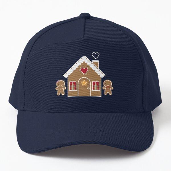 Kawaii Christmas Gingerbread House Baseball Cap