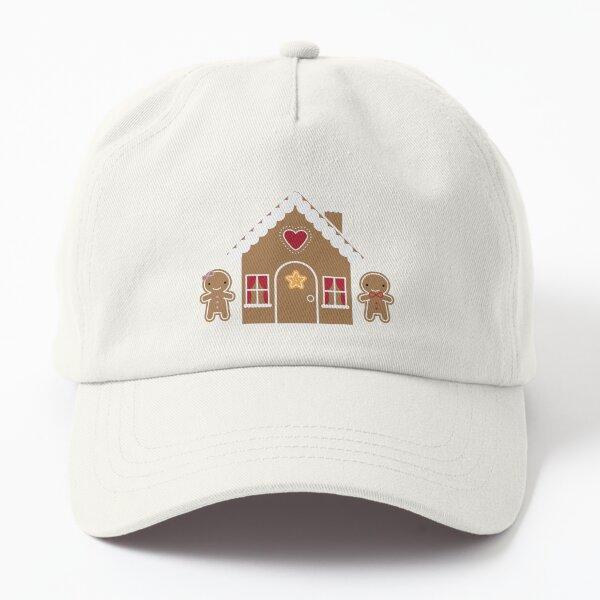 Kawaii Christmas Gingerbread House Dad Hat