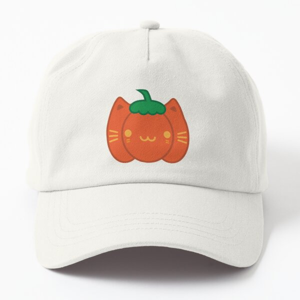 Kawaii Halloween Pumpkin Cat Dad Hat