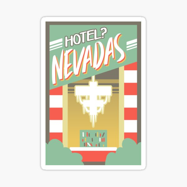 Las Nevadas Retro Aesthetic (Hotel Nevadas) Sticker