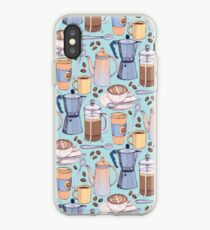 Coffee Love on Blue iPhone Case