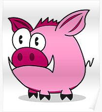 Funny pig Poster