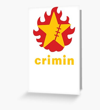 Crimin Brand Fire Star Greeting Card